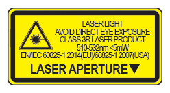 laser light avoid eye exposure class 3R laser product EN/IEC 60825-1 2014(EU)60825-1 2007(US)
