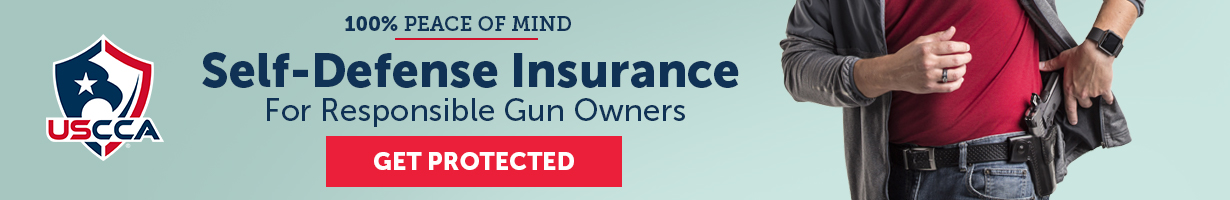 USCCA. 100% peace of mind. Self-defense insurance for responsible gun owners. Get protected.
