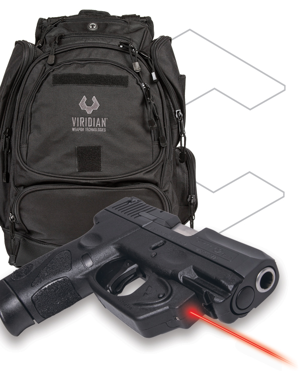 Taurus PT111 G2 Pistol with Viridian E SERIES Laser and Tactial Backback