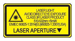 Green Laser Warning Label