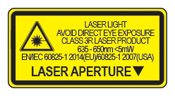 Red Laser Waning Label